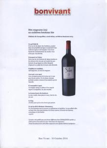 Bn Vivant - magnum Solus rouge 2013