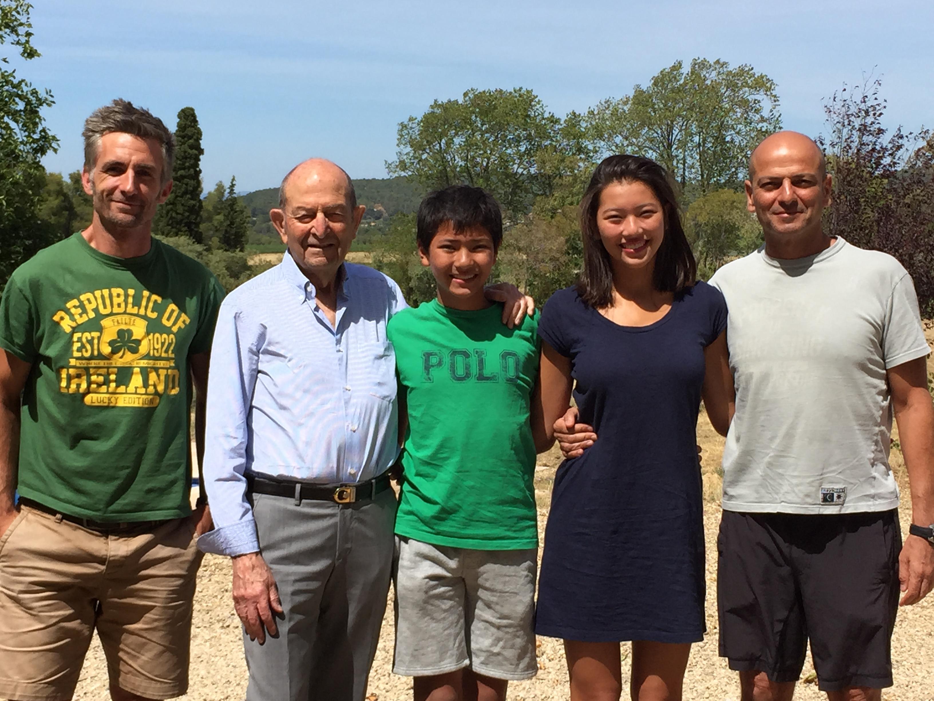 Famille Gabison avec Etienne